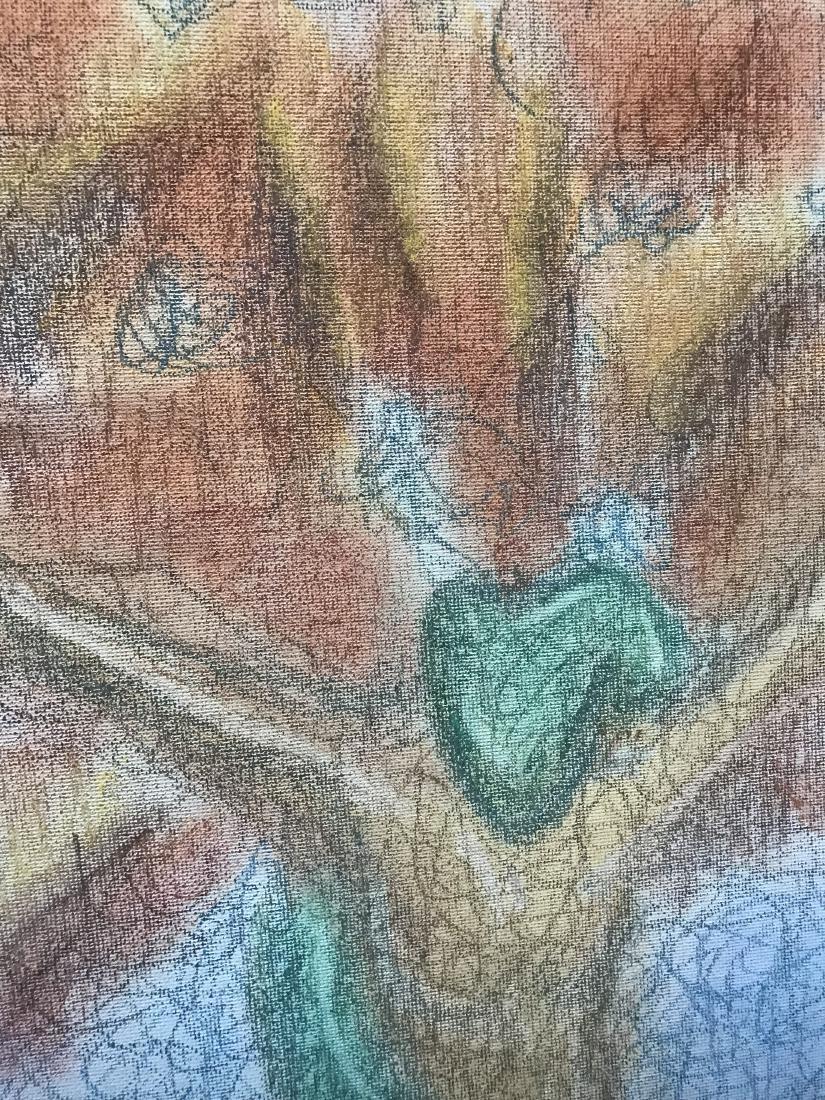 Drew Davis Original Chalk Drawing Snake Apple Tree - 6