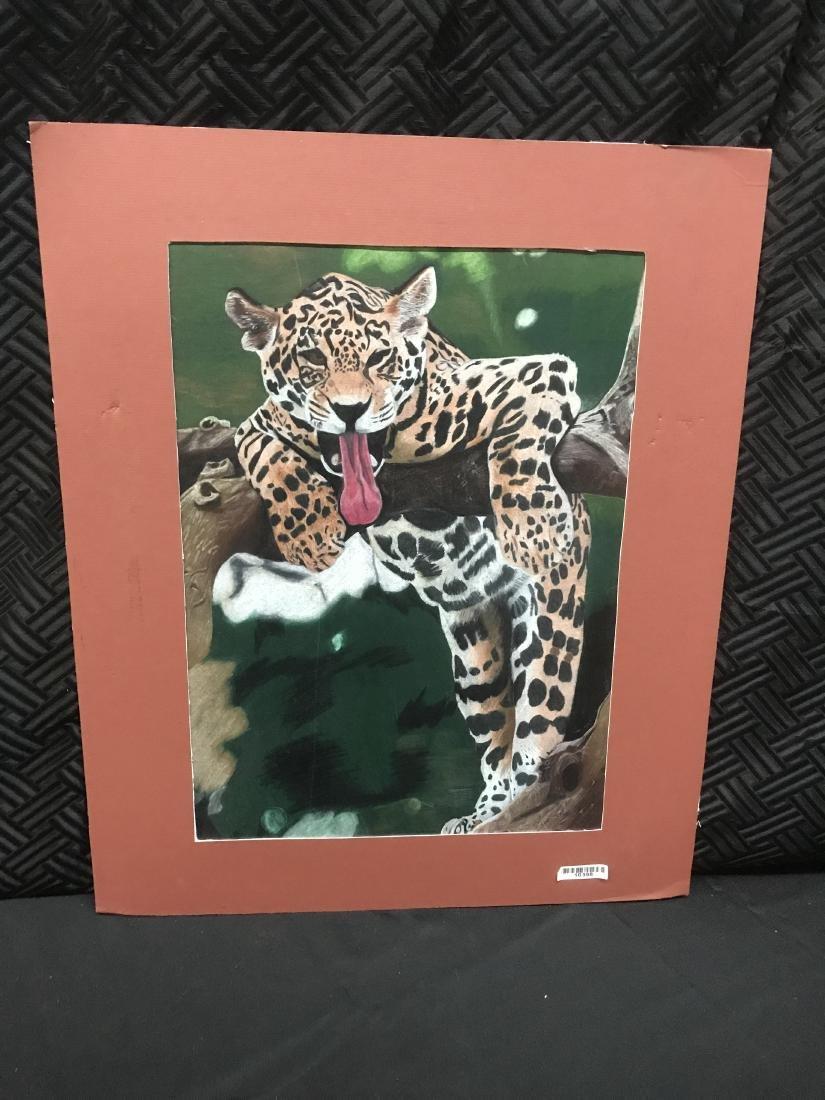 Drew Davis Original Jaguar Leopard in a Tree