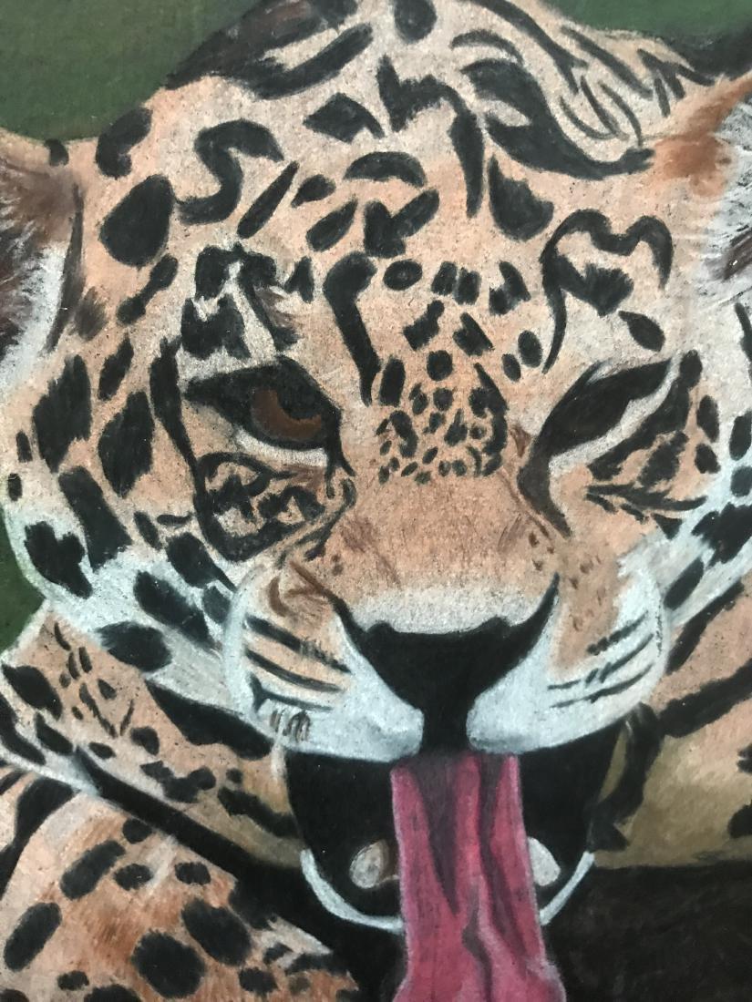 Drew Davis Original Jaguar Leopard in a Tree - 2