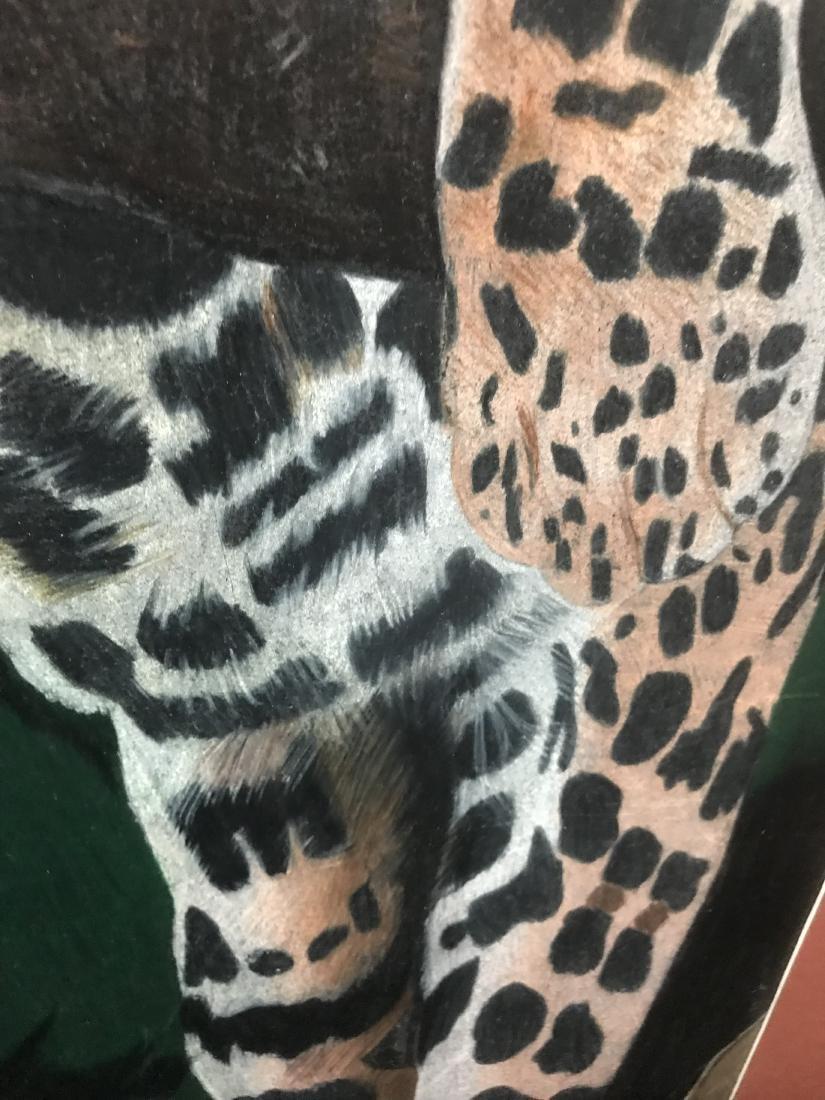 Drew Davis Original Jaguar Leopard in a Tree - 3