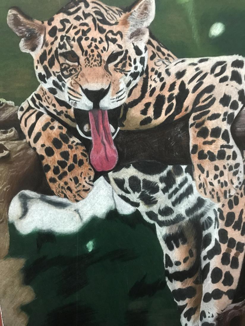 Drew Davis Original Jaguar Leopard in a Tree - 5