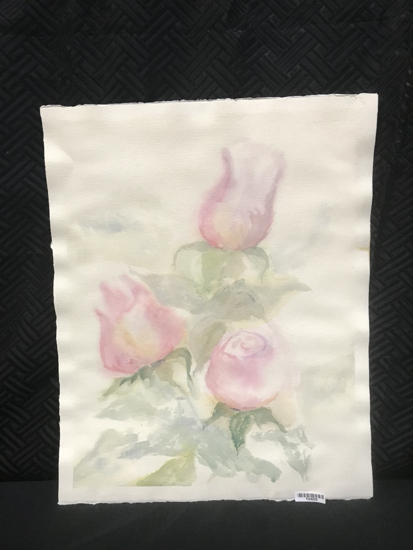 Watercolor of Rose Buds