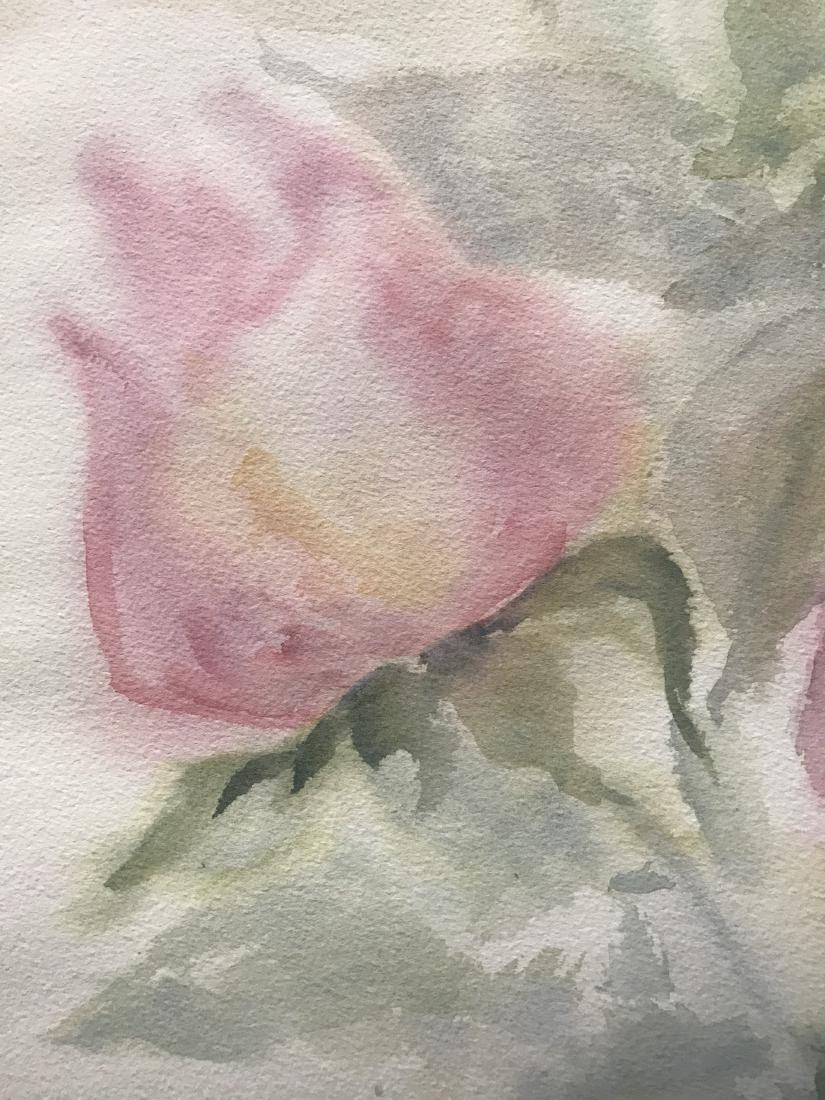 Watercolor of Rose Buds - 2