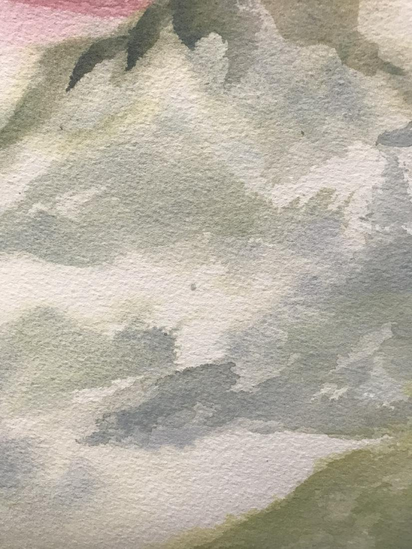 Watercolor of Rose Buds - 3