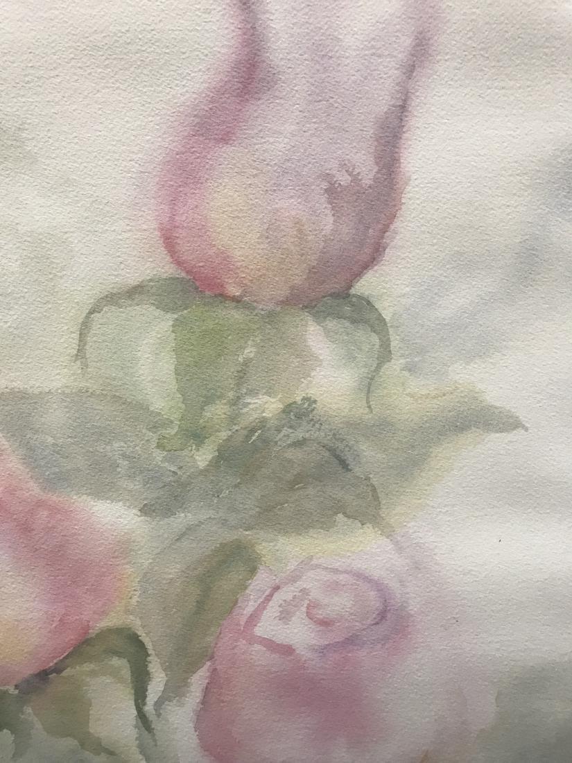 Watercolor of Rose Buds - 5