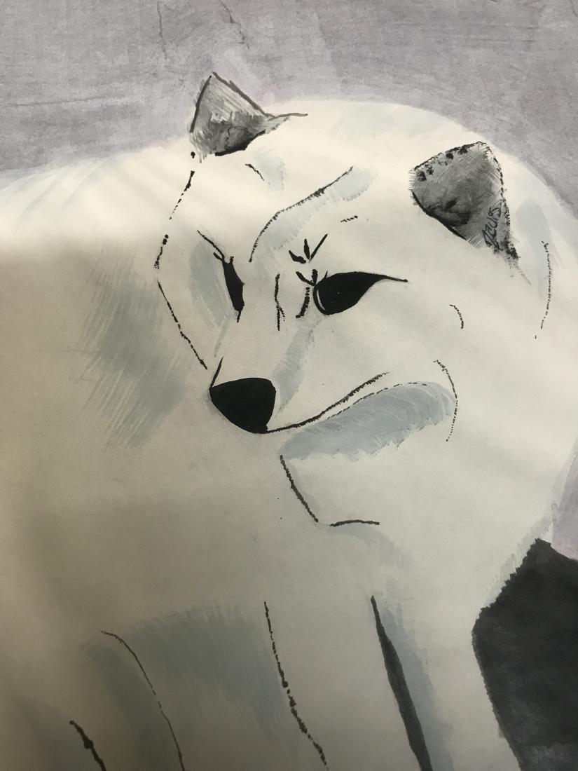 Drew Davis White Fox Original Drawing - 3