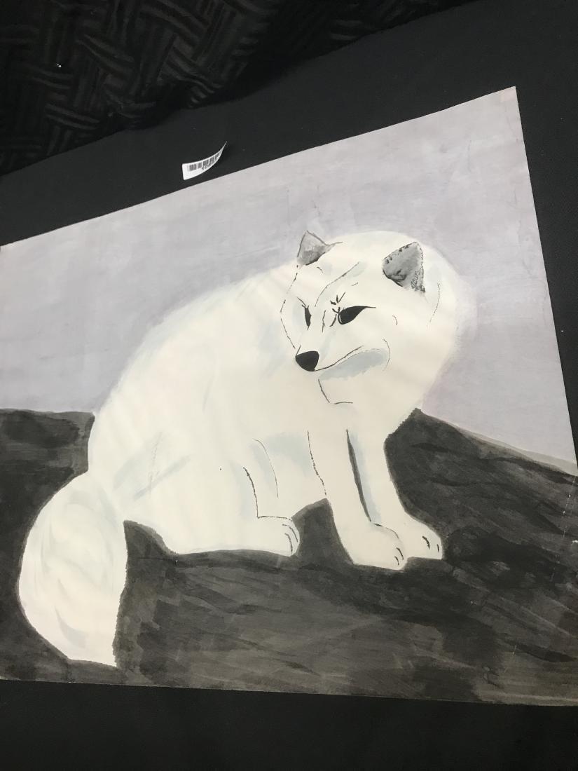 Drew Davis White Fox Original Drawing - 4