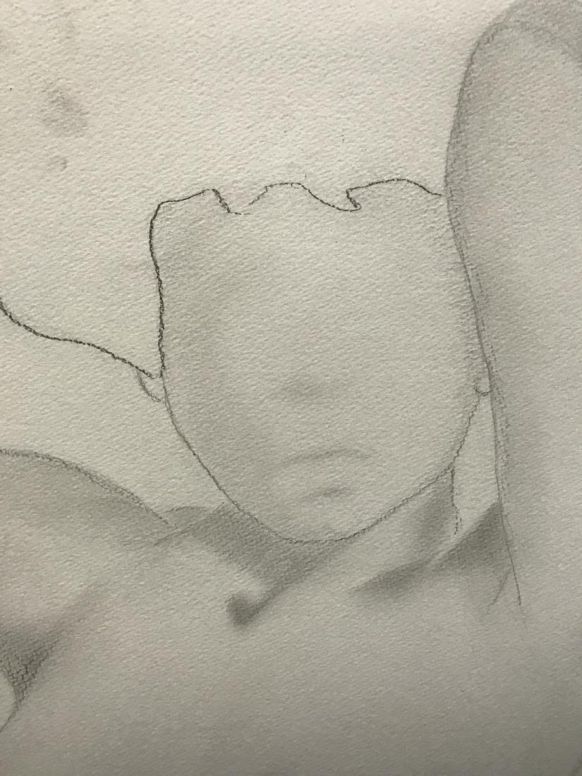 Drew Davis Original Pencil Study of Nude Woman - 5