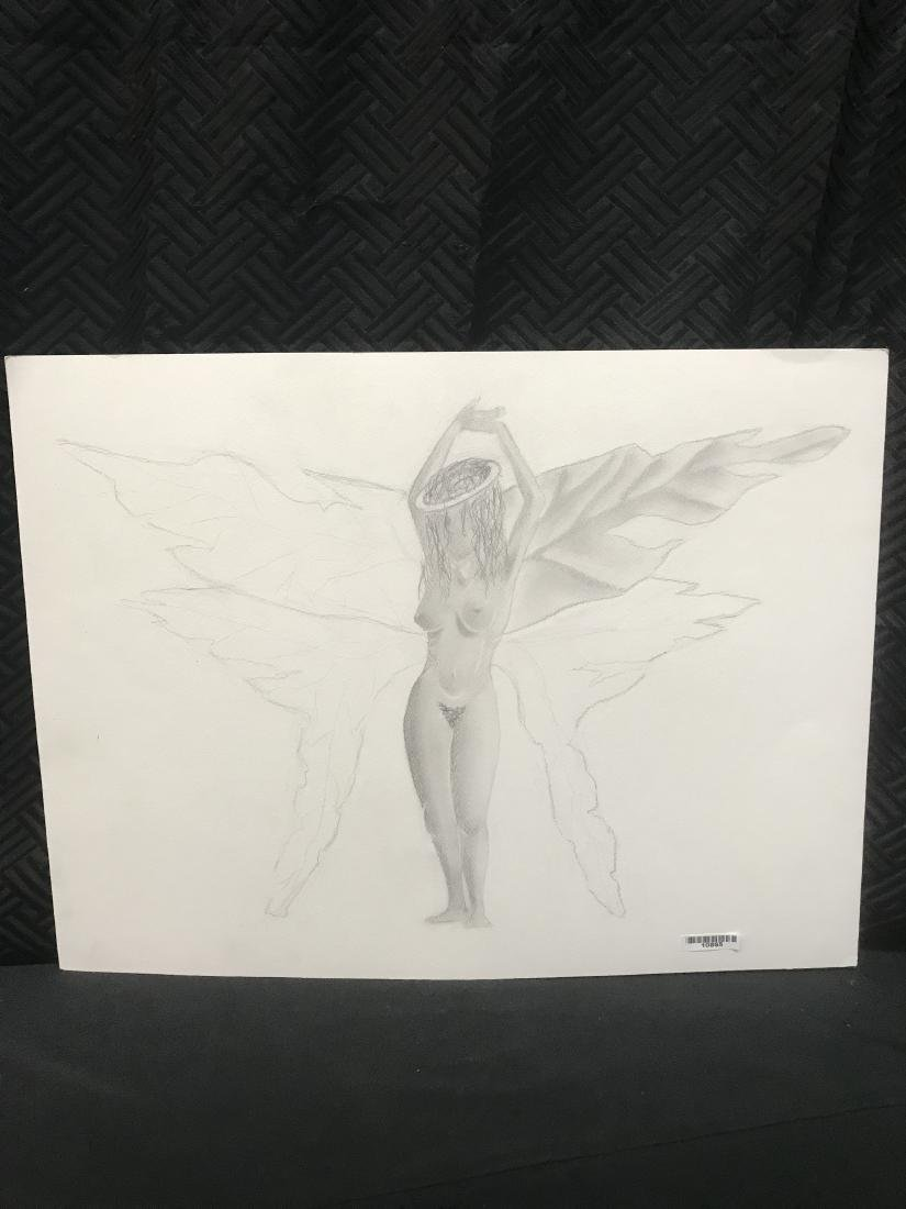 Drew Davis Original Pencil Study of Nude Woman with
