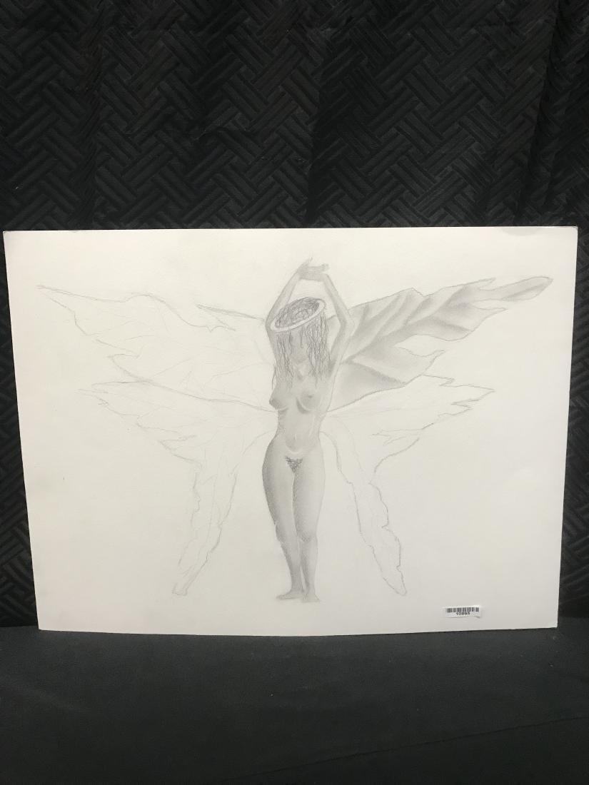 Drew Davis Original Pencil Study of Nude Woman with