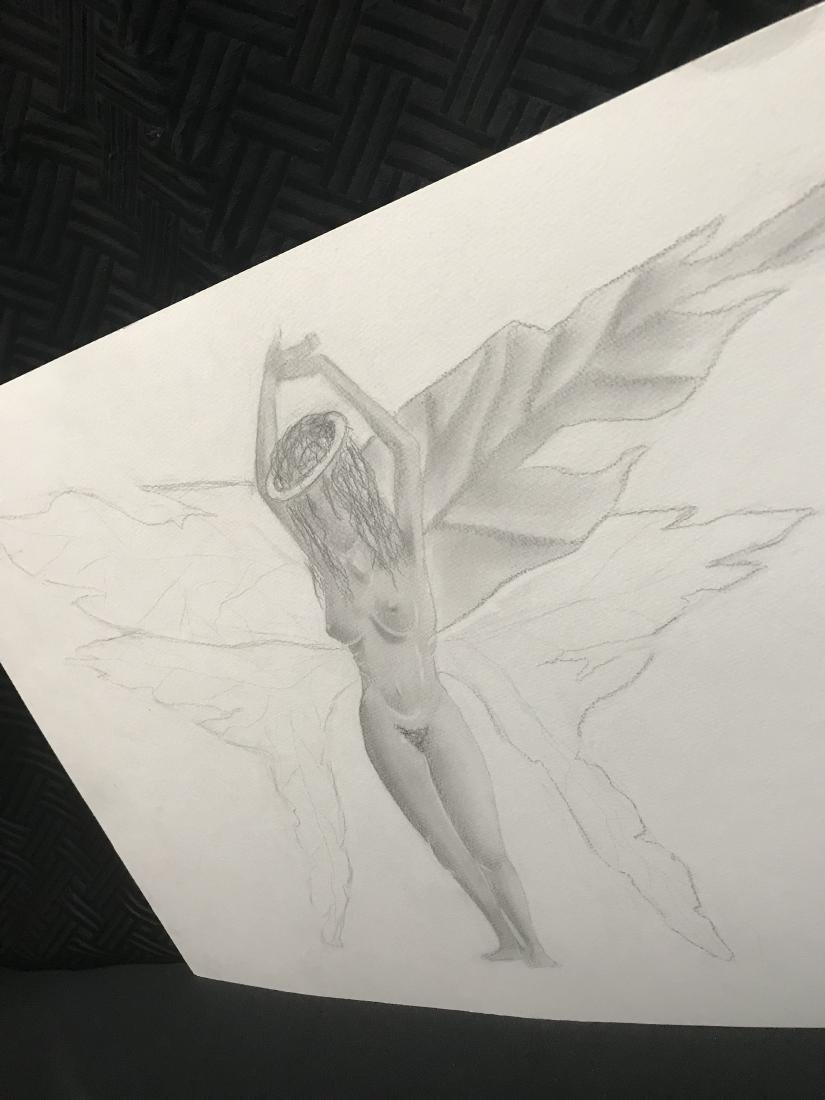 Drew Davis Original Pencil Study of Nude Woman with - 2