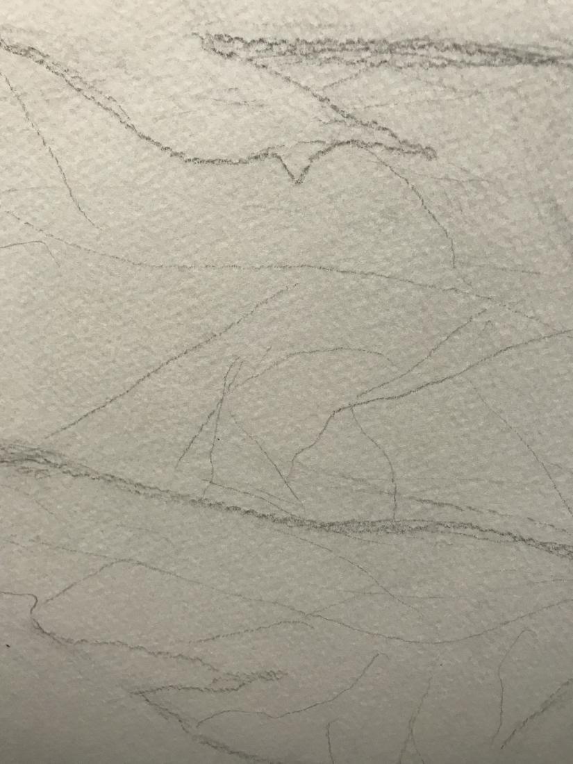 Drew Davis Original Pencil Study of Nude Woman with - 5
