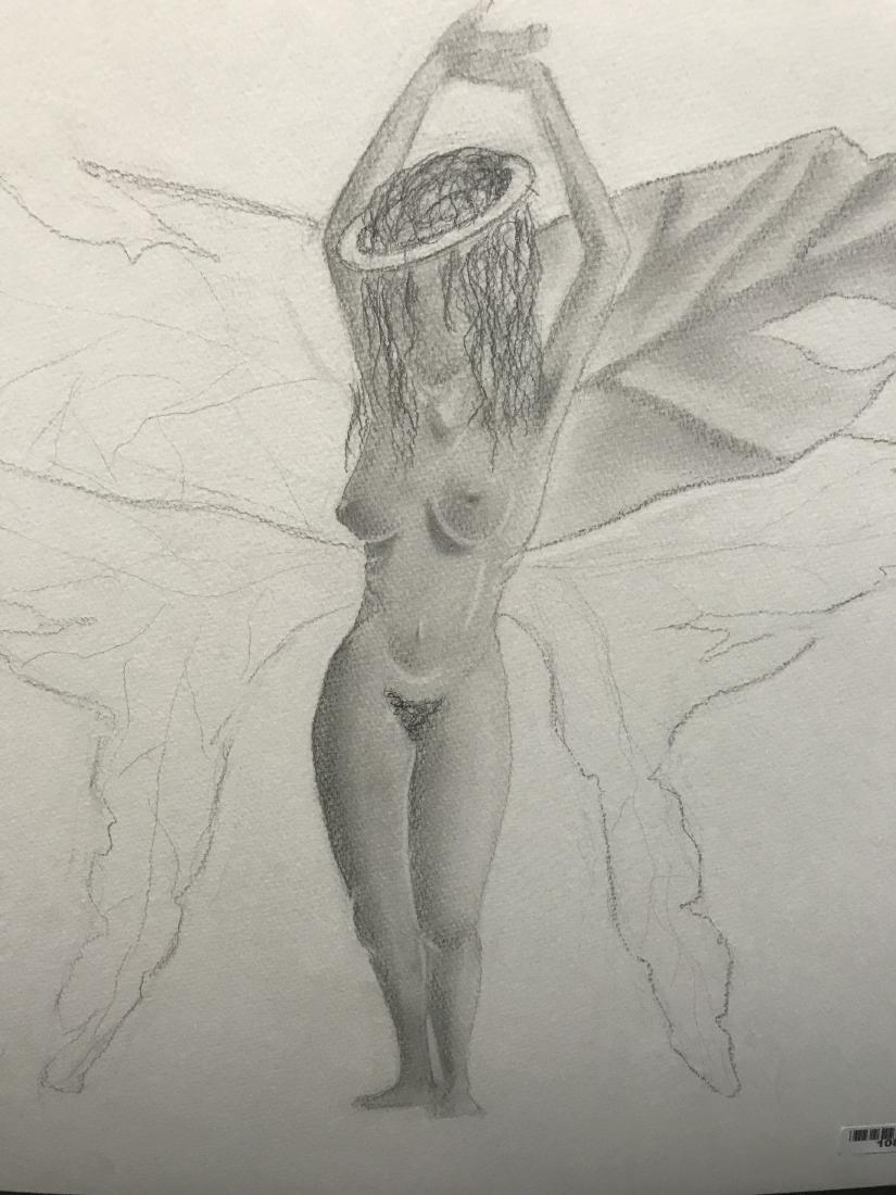 Drew Davis Original Pencil Study of Nude Woman with - 7