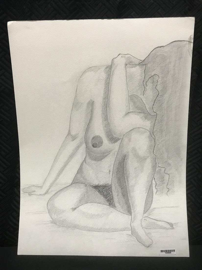 Drew Davis Original Pencil Study of Nude Woman