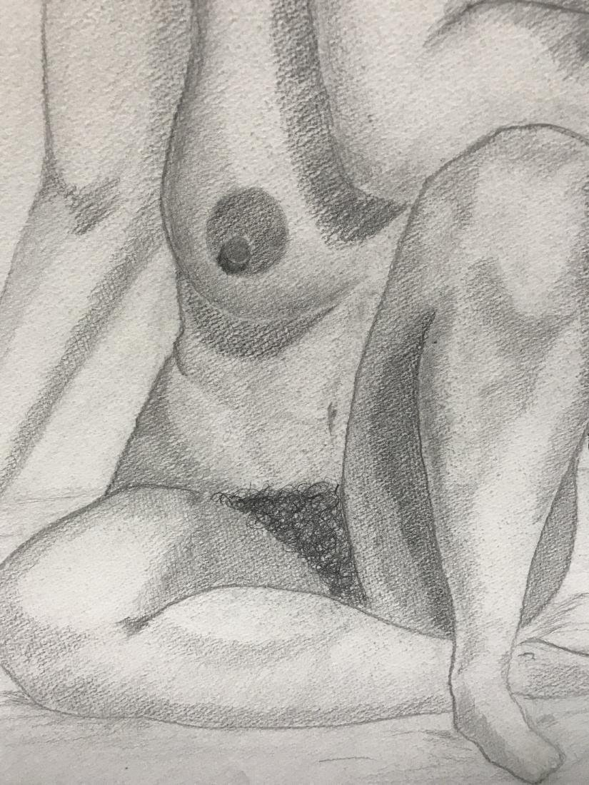Drew Davis Original Pencil Study of Nude Woman - 2