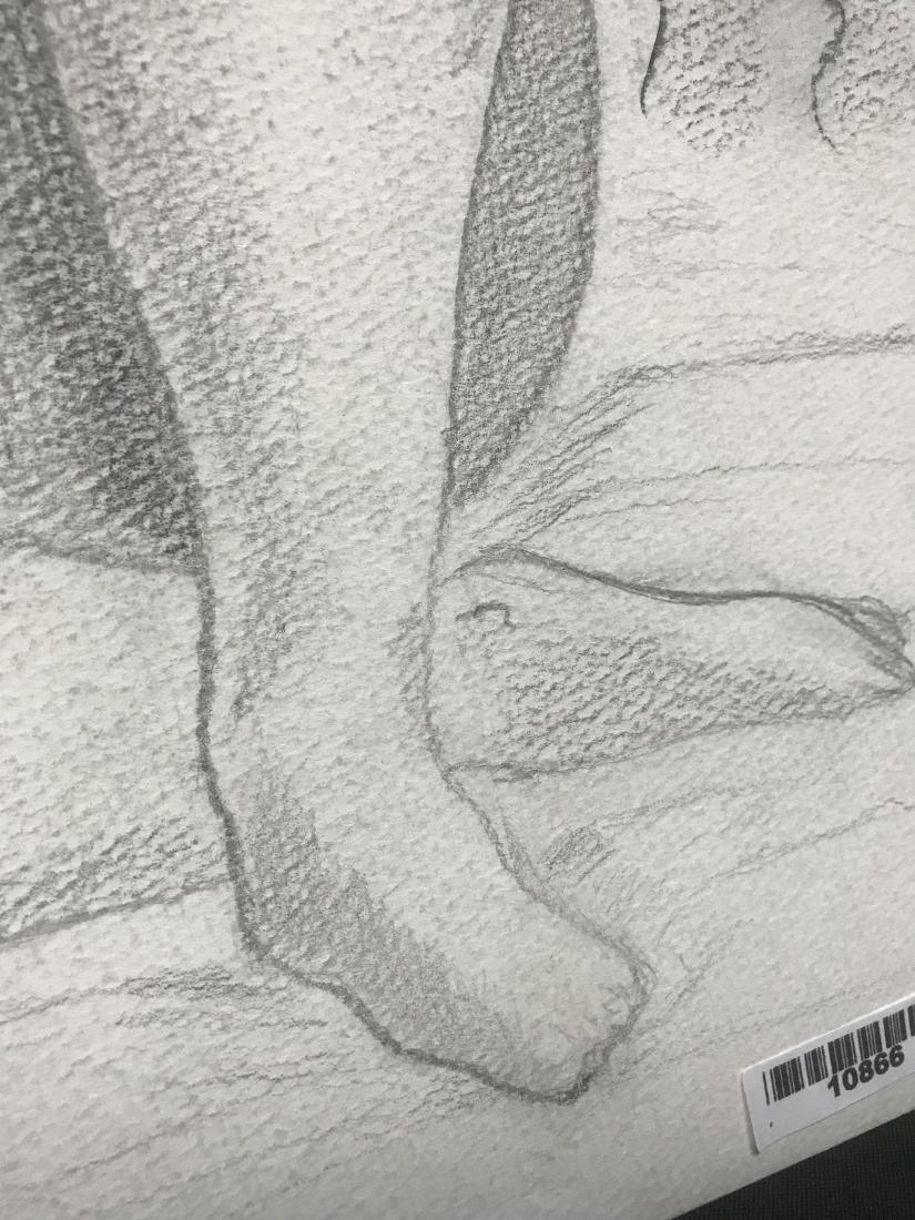 Drew Davis Original Pencil Study of Nude Woman - 4
