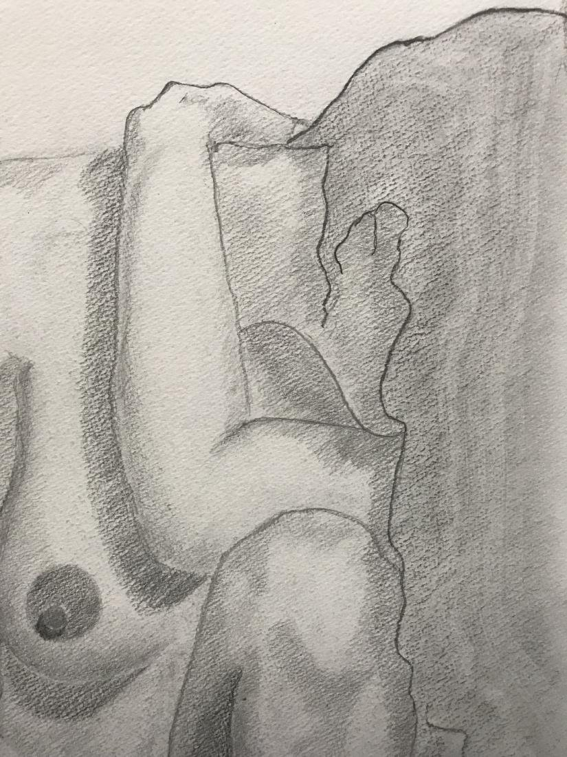 Drew Davis Original Pencil Study of Nude Woman - 6