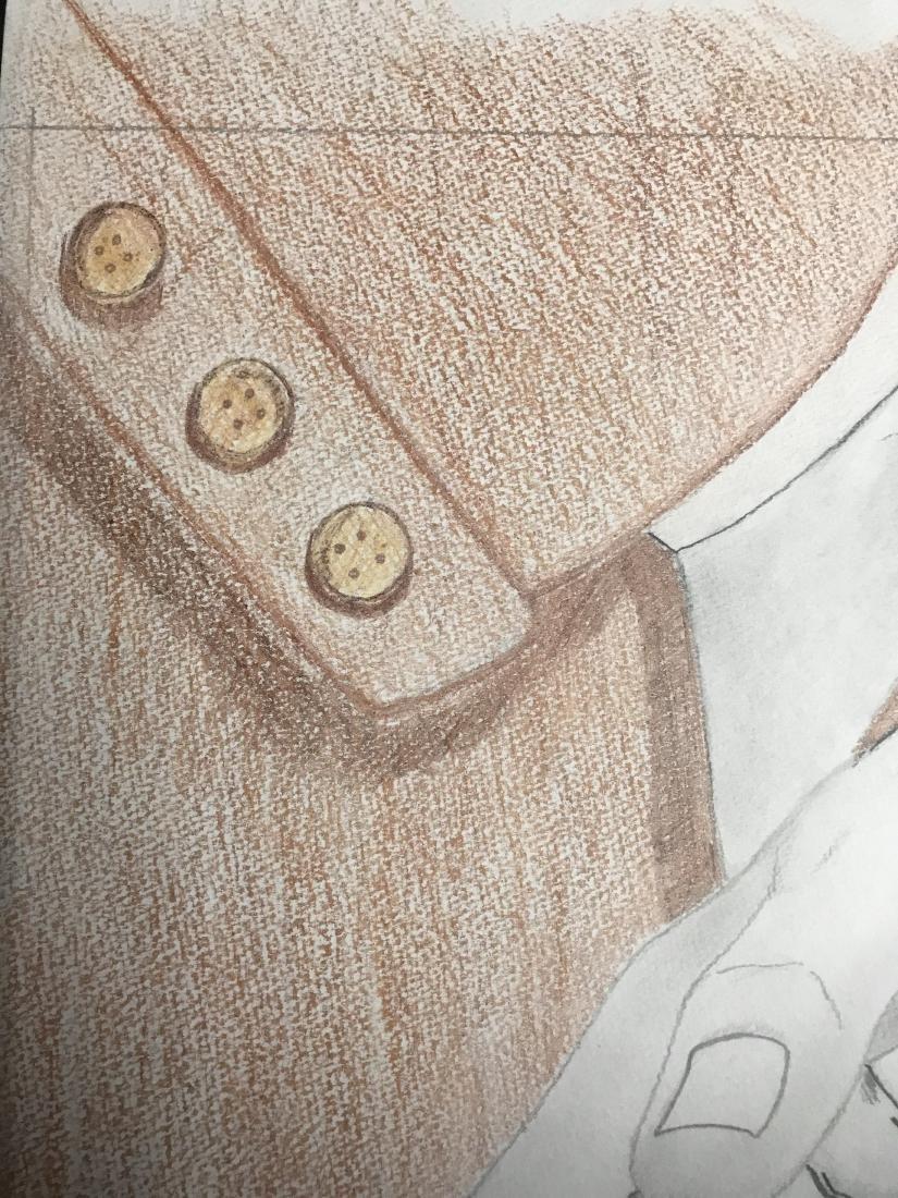 Drew Davis Original Study of Hand Holding Small Wrapped - 2