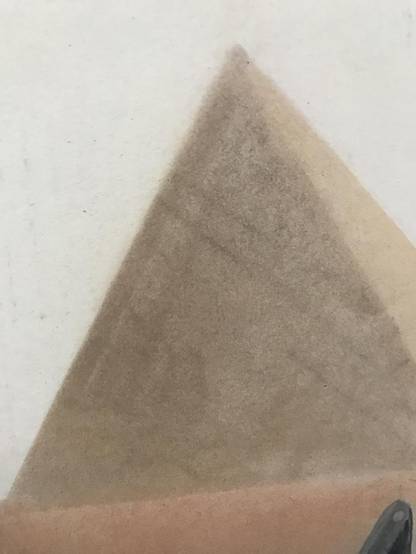 Drew Davis Original Woman from the Back with Pyramids - 6