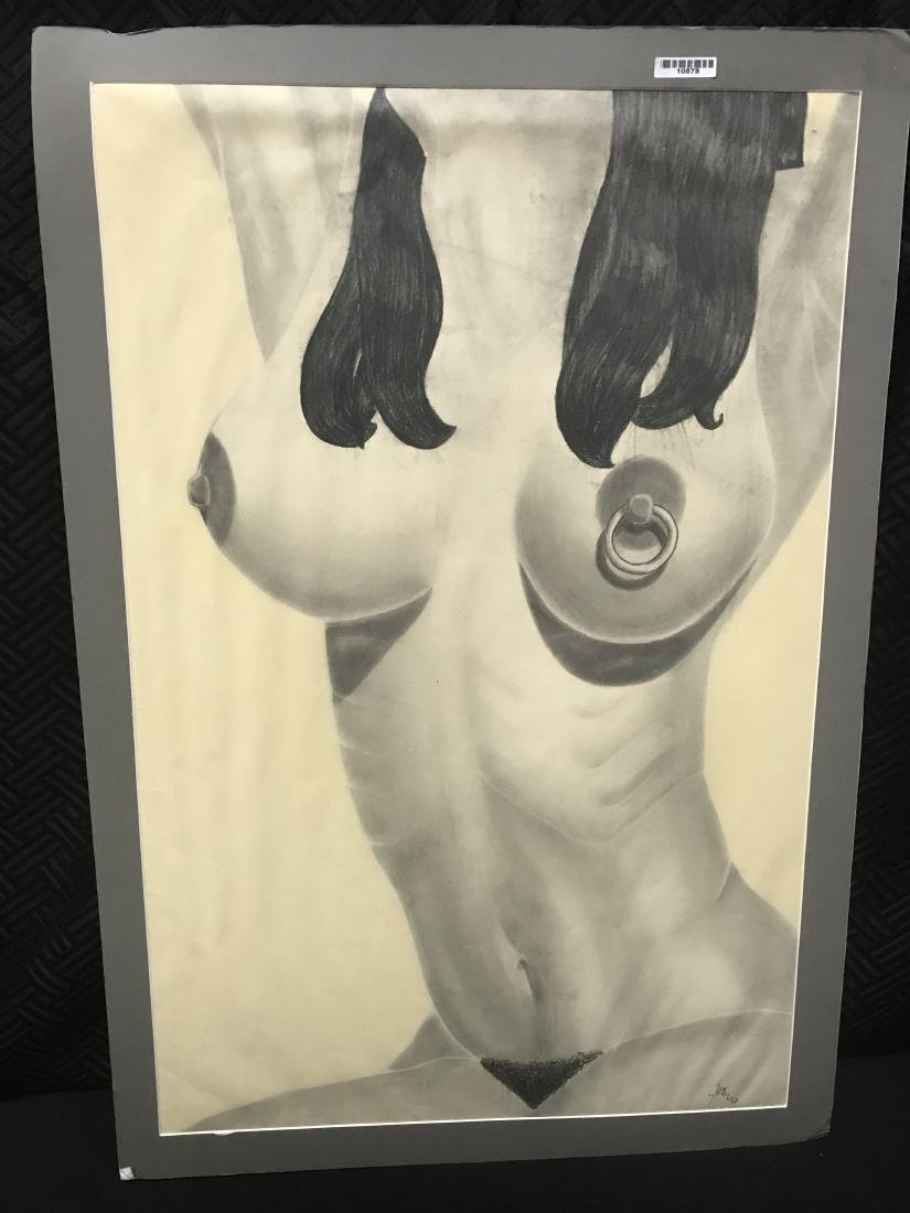 Drew Davis Study of Nude Woman with Nipple Ring and