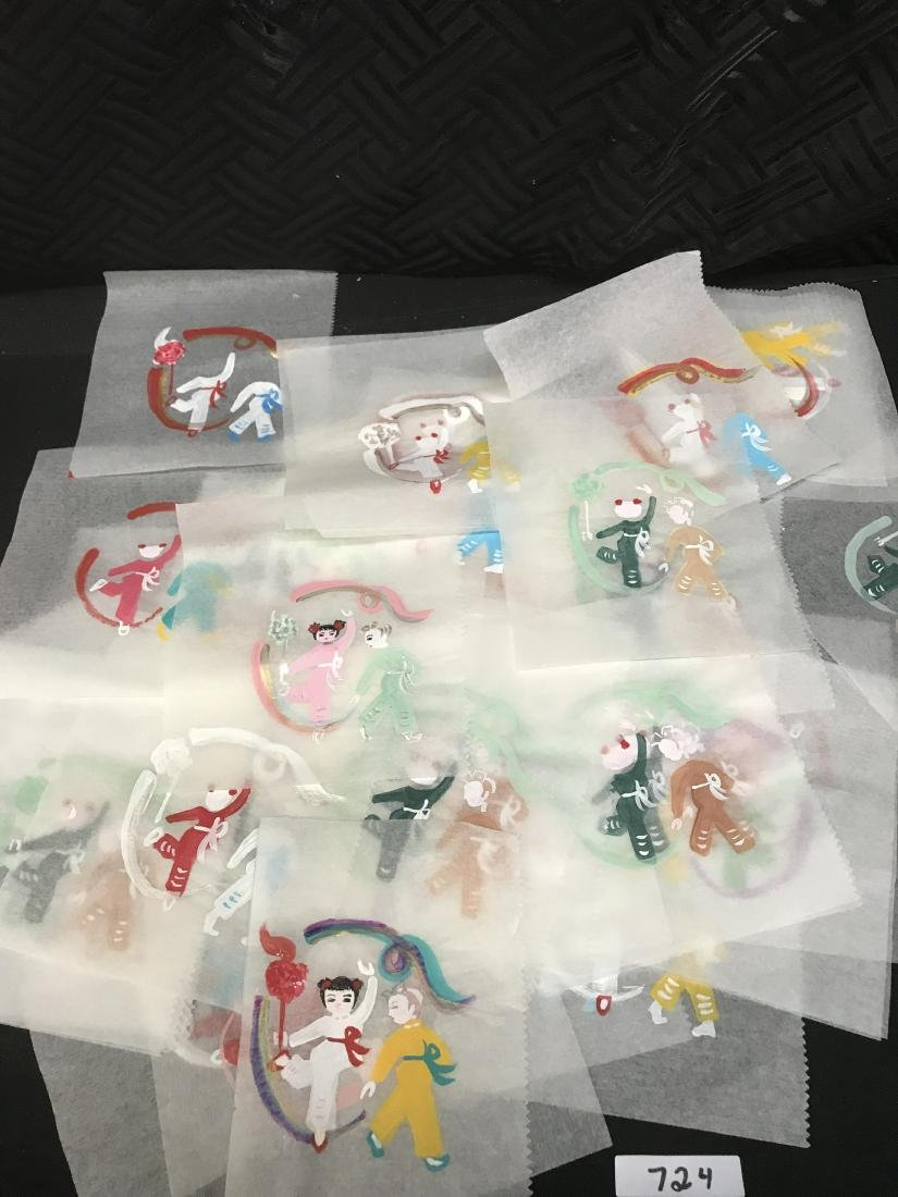 Hand Painted Chinese Small Drawings of Children and