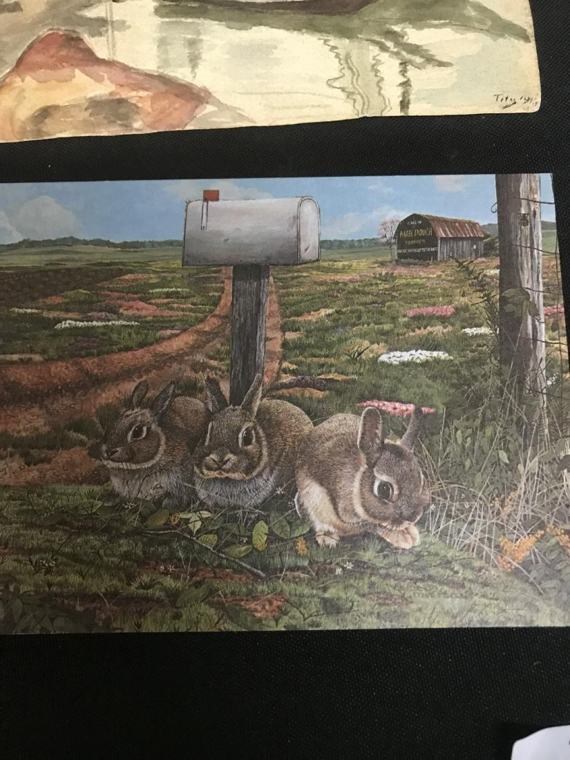 Lot Postcards Dogs Animals Art - 2
