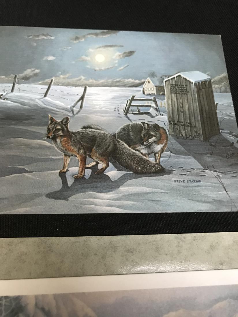 Lot Postcards Dogs Animals Art - 5