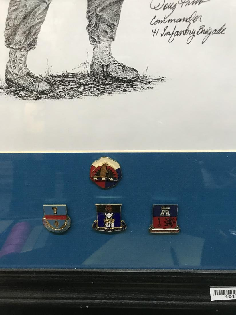 Memento of Service in Austria with Pins and Patch - 3