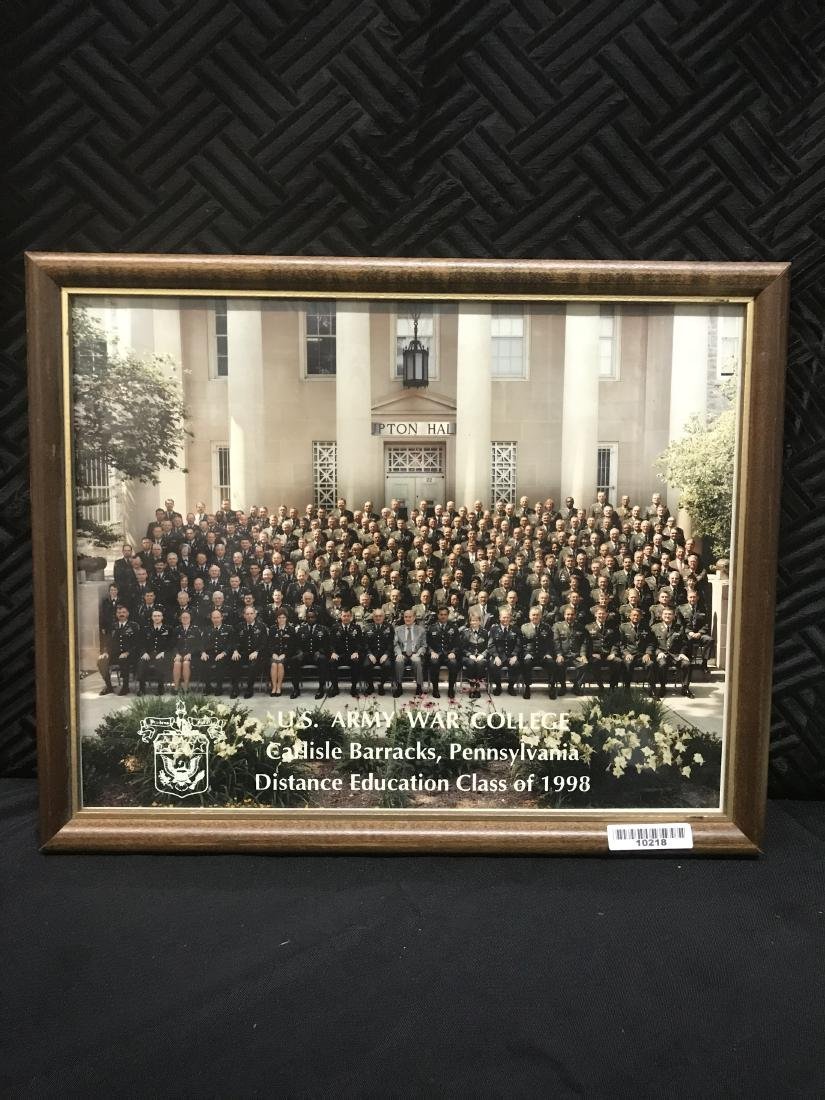 Framed Photo US Army War College 1998