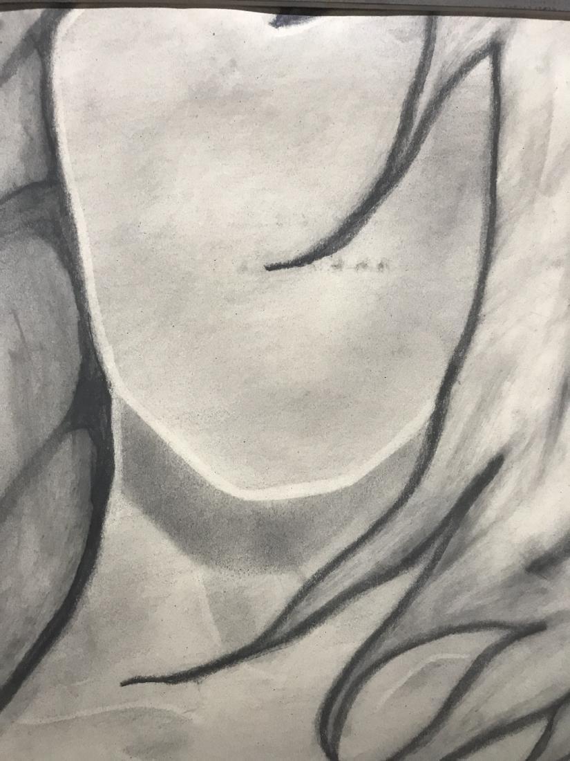 Drew Davis Original Pencil Study of Nude Woman - 3