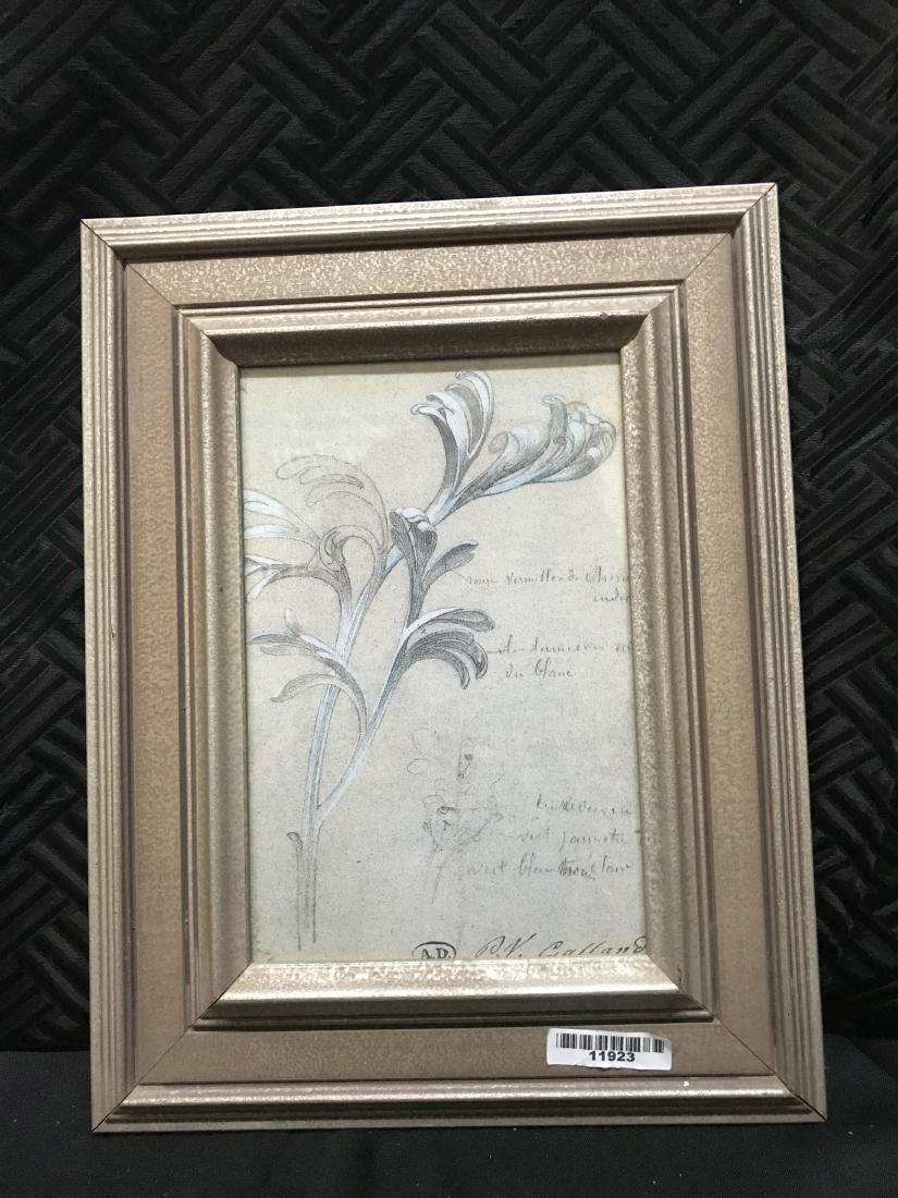 Print of Chrysanthemum Leaves with Printing