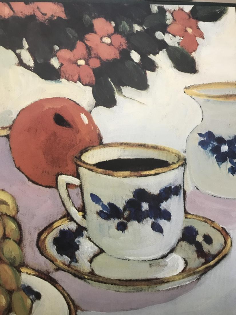 Signed Morrison Still Life.  Coffee Fruit Flowers - 5