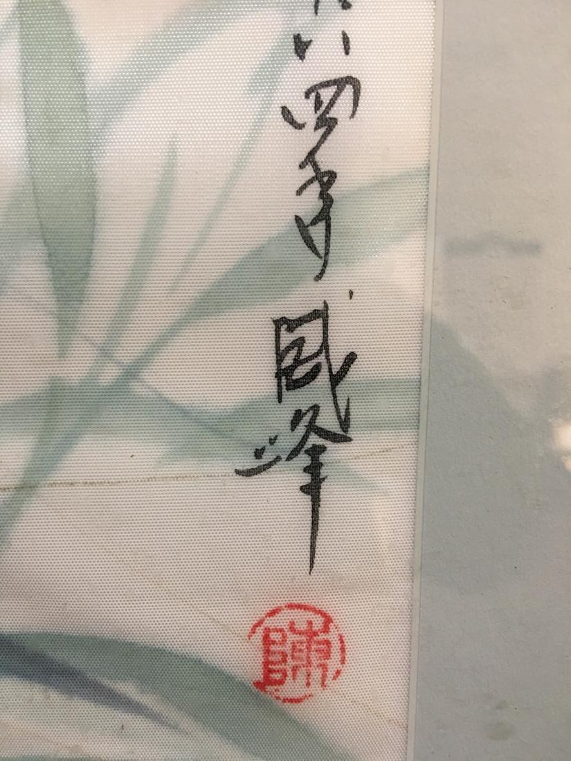 Original Signed Framed Chop Japanese Art Angelfish - 4