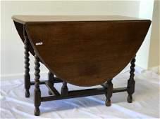 A William & Mary Style Drop Leaf Gate Leg Table