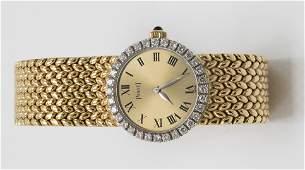 A Piaget diamond 18k ladies wristwatch