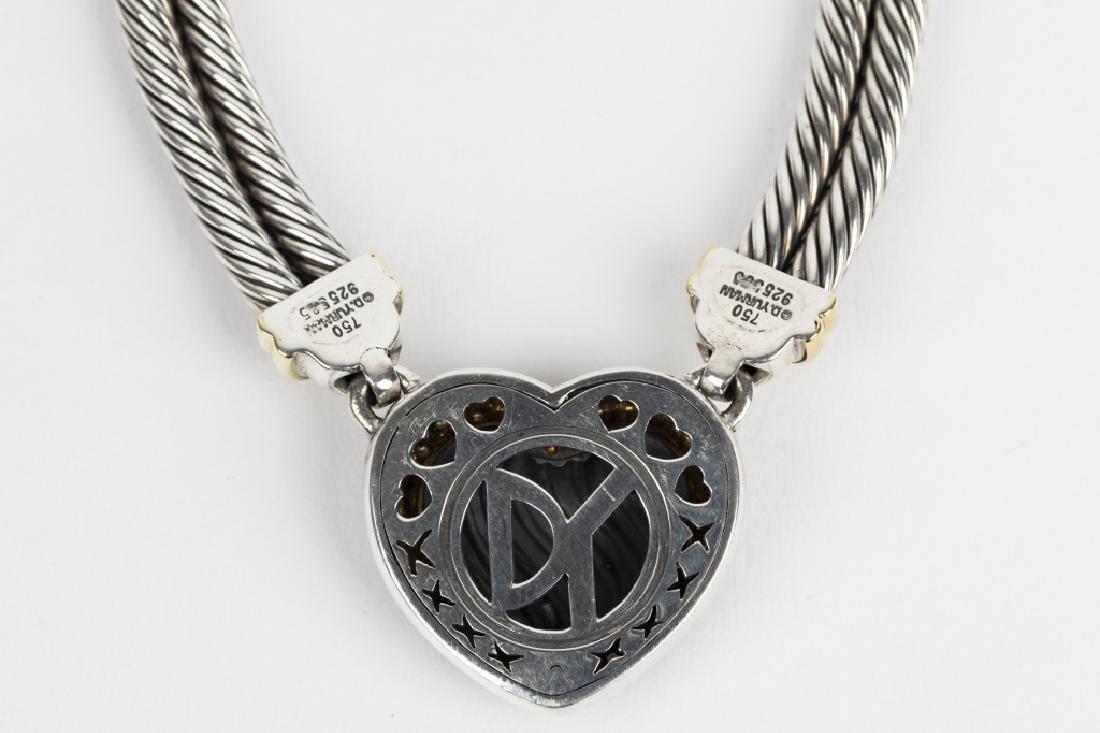 A David Yurman diamond, 18k, silver heart suite - 3