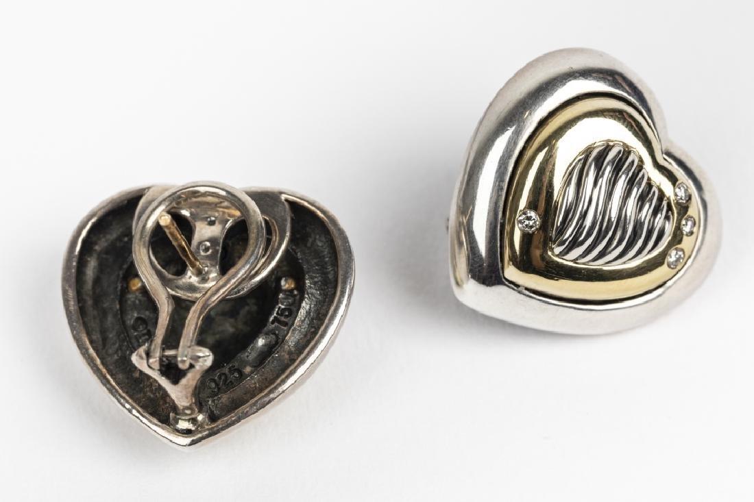 A David Yurman diamond, 18k, silver heart suite - 4