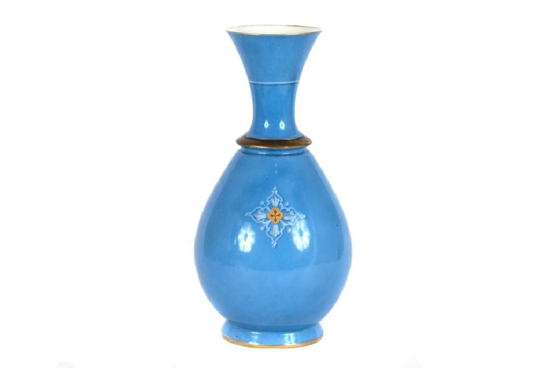 A Continental baluster form porcelain vase - 2