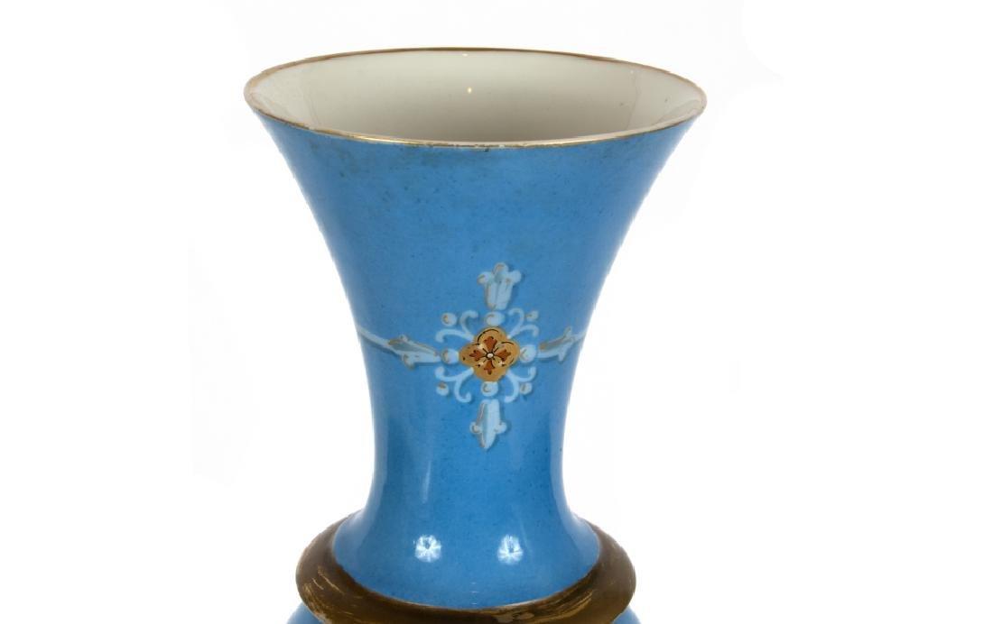 A Continental baluster form porcelain vase - 3