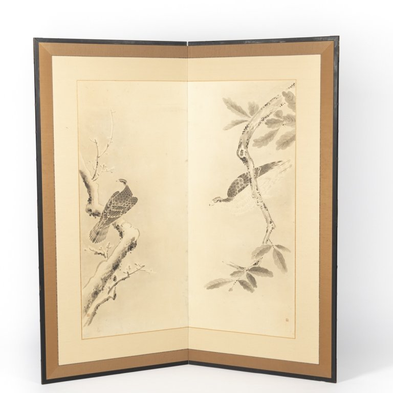 A Japanese two panel screen