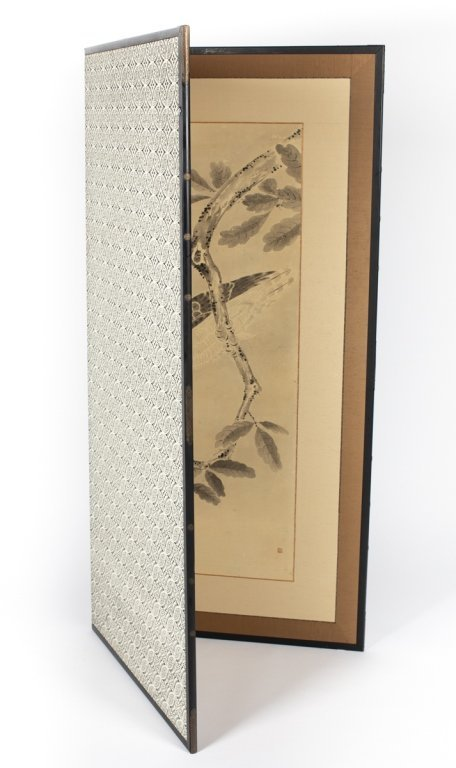 A Japanese two panel screen - 2