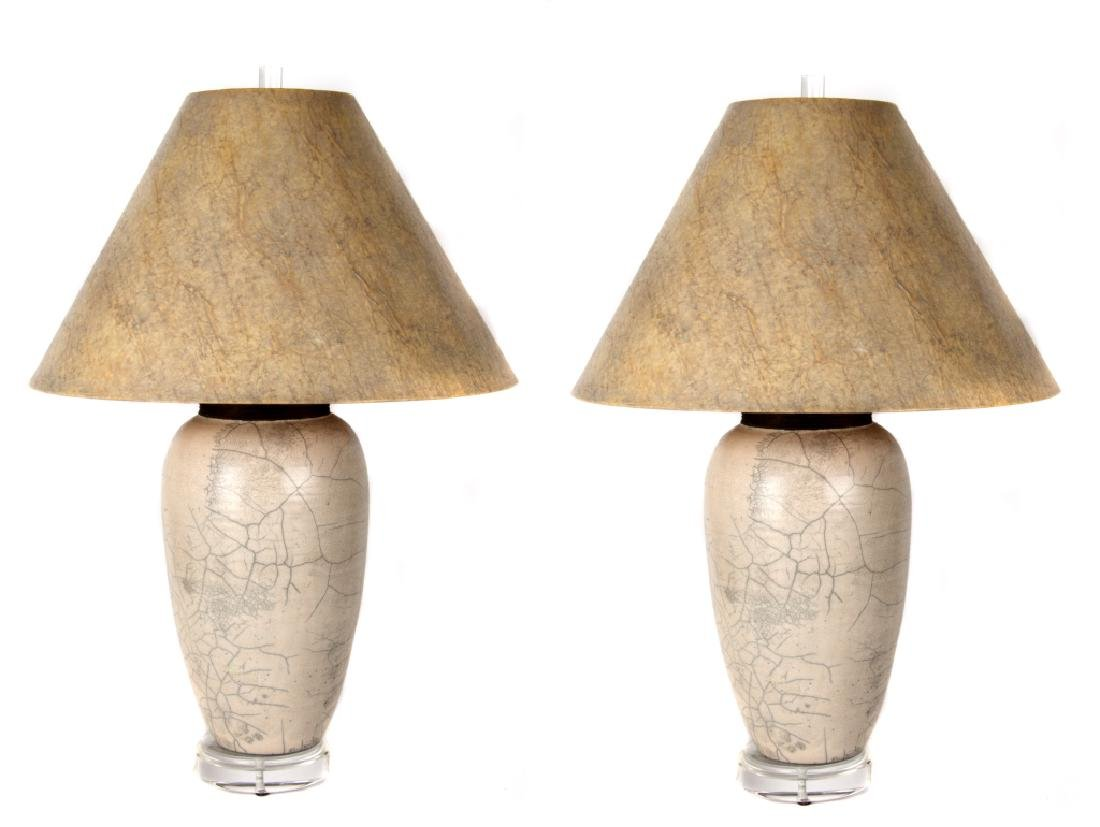 A pair of Contemporary ceramic table lamps