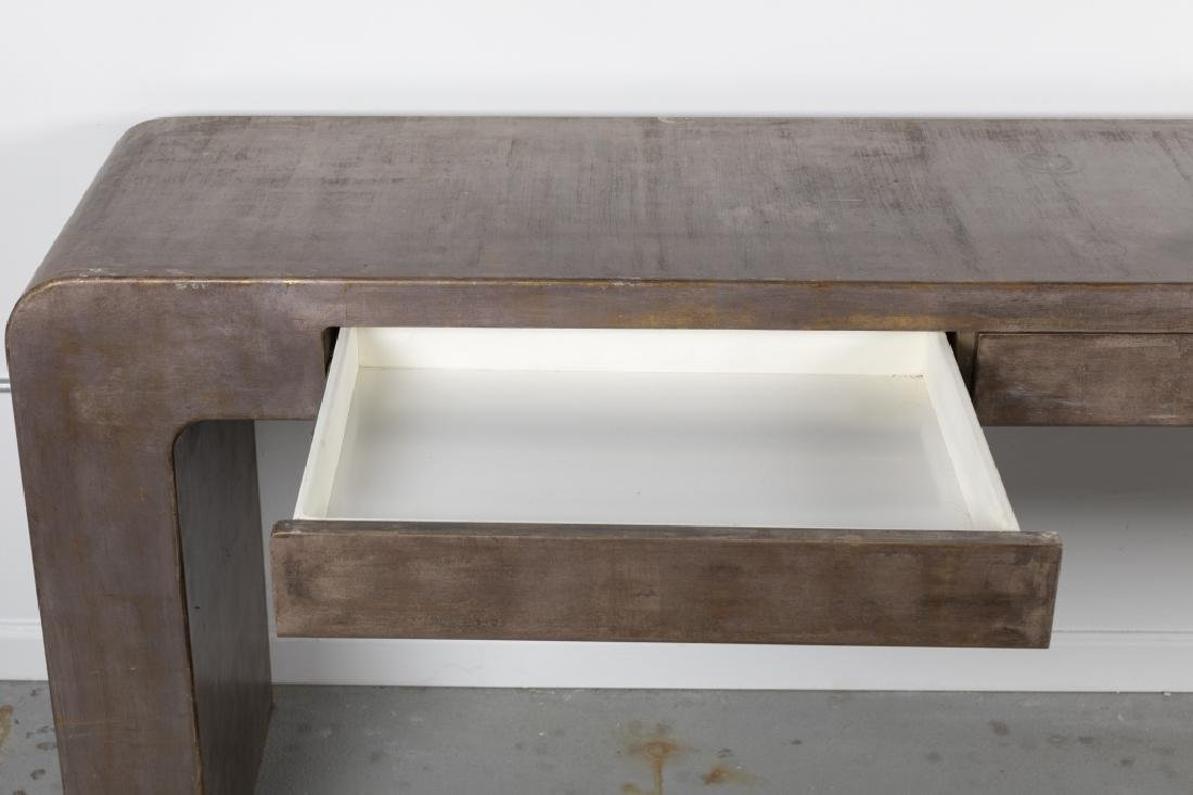 A Contemporary waterfall console table - 3