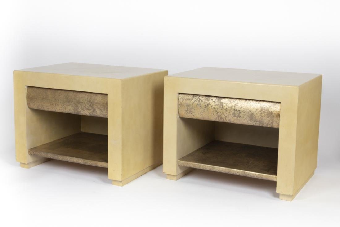 A pair of Contemporary lacquered nightstands
