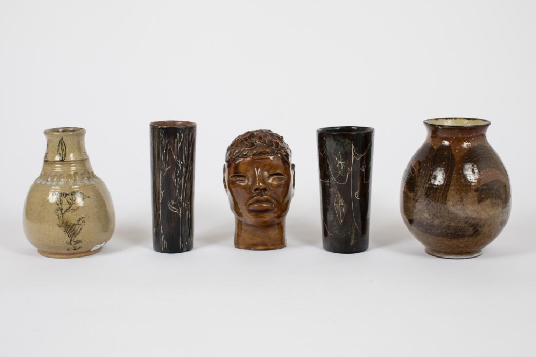 Five American studio pottery ceramics