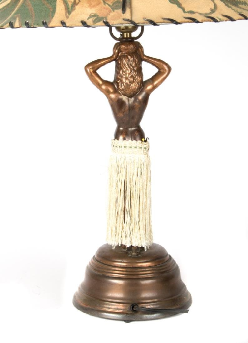 An animated Hula girl lamp - 2