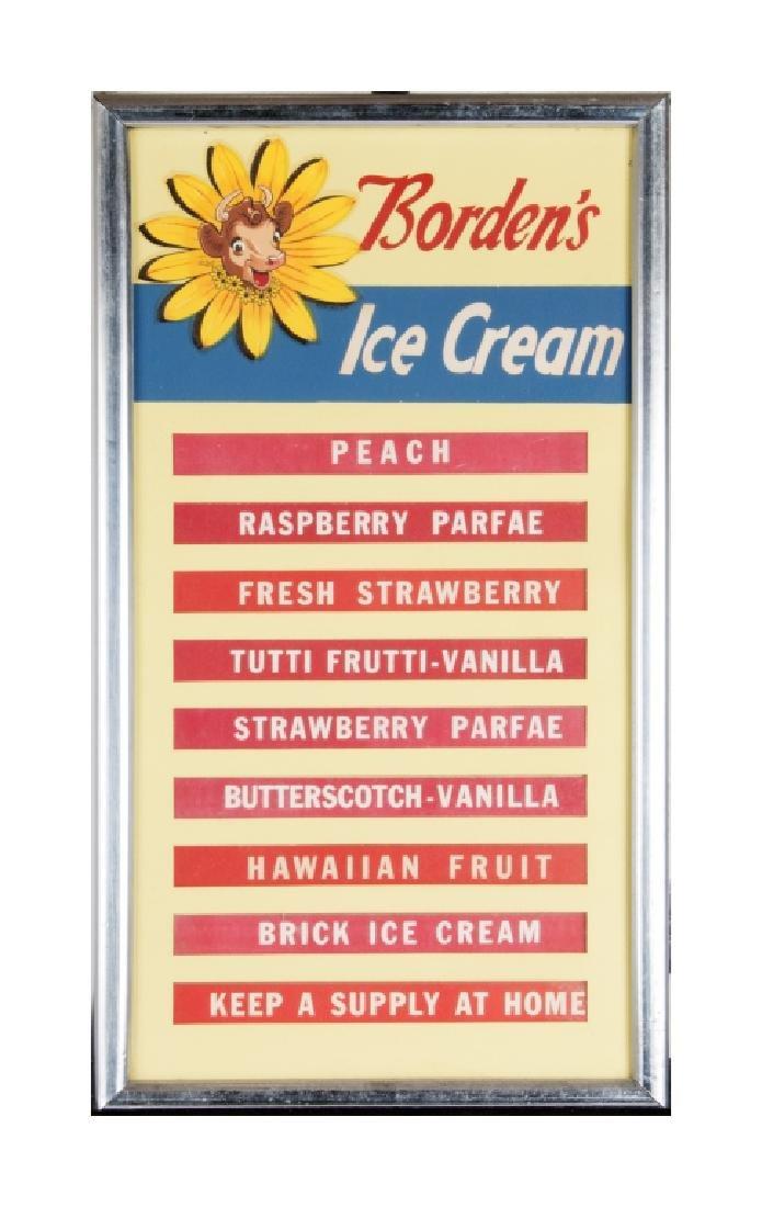 A vintage Borden's ice cream menu board - 3
