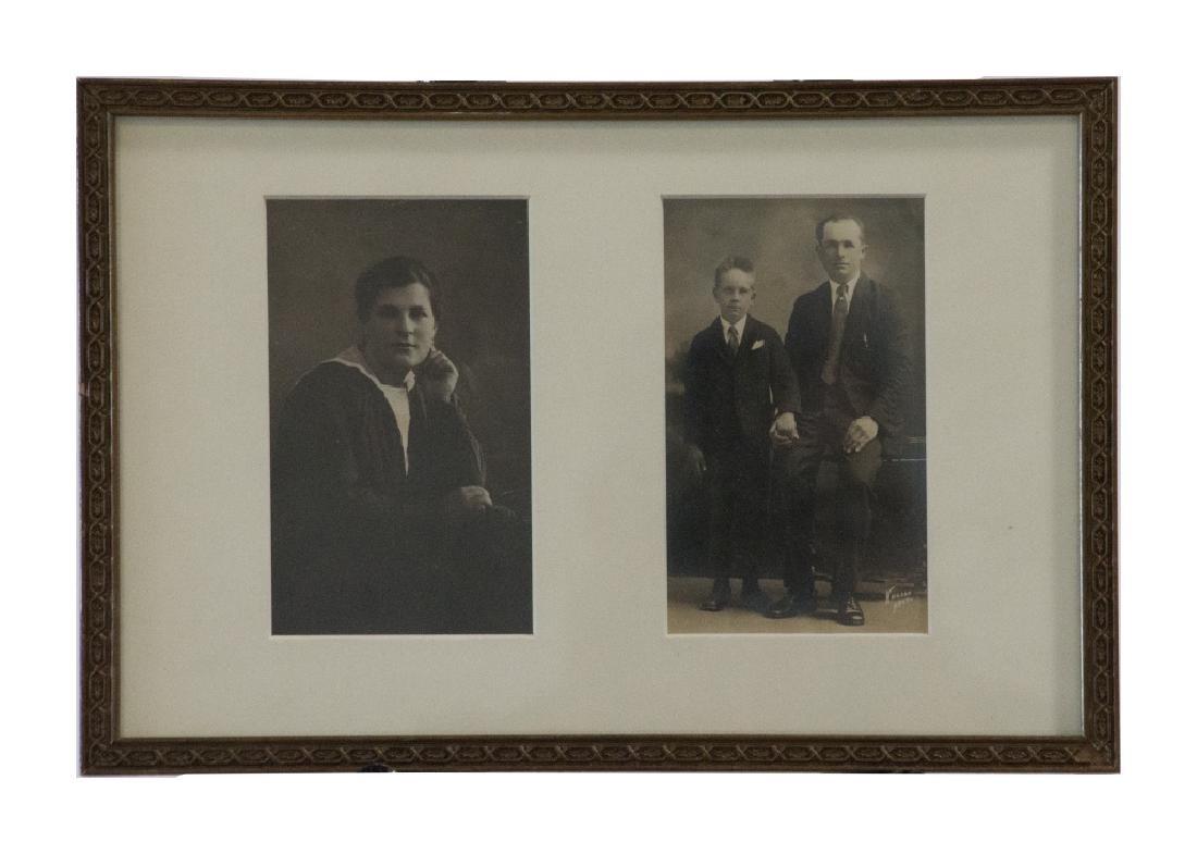 Three framed black and white vintage photographs - 4