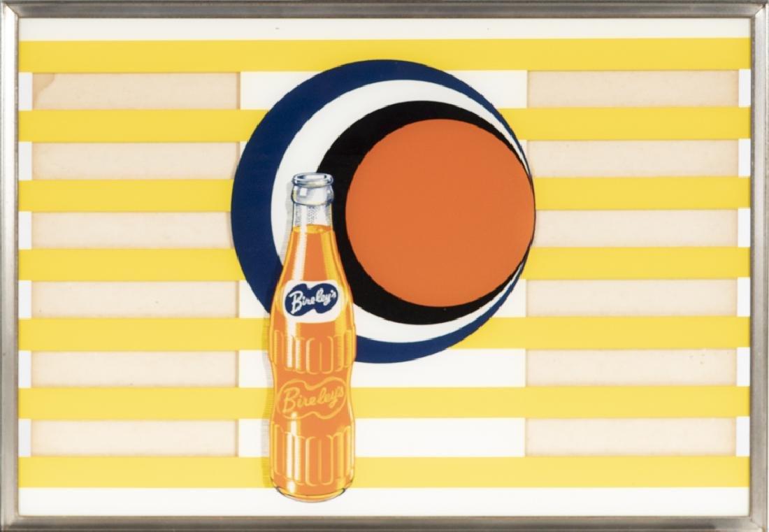 A vintage Bireley's soda menu board