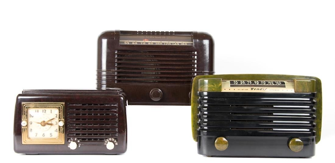 Six vintage Bakelite and Catalin radios